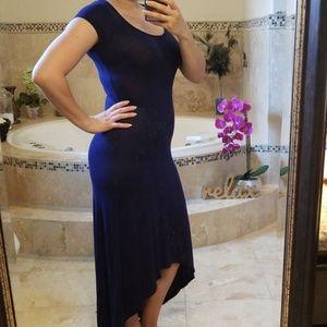 hi low navy dress